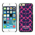 Luxury Coach Covers Hard Back Cases Protective Shell Skin for iPhone 6S Plus 5.5 Rose - Black