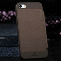 Nillkin England Retro Leather Case Covers for iPhone 6S Plus - Brown (High transparent screen protector)