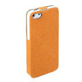 ROCK Eternal Series Flip leather Cases Holster Covers for iPhone 6S Plus - Orange