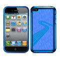 Slim Metal Aluminum Silicone Cases Covers for iPhone 6S Plus - Blue