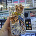 Swarovski crystal cases Bling Flower diamond covers for iPhone 6S Plus - Champagne