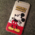 TPU Cover Disney Mickey Mouse Silicone Case Akimbo for iPhone 6S Plus 5.5 - Transparent