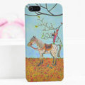 Ultrathin Matte Cases Horse boy Hard Back Covers for iPhone 6S Plus - Yellow