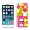 Unique Coach Covers Hard Back Cases Protective Shell Skin for iPhone 6S Plus 5.5 Pink - White