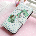 Hello Kitty Side Flip leather Case Holster Cover Skin for iPhone 7 Plus - White 06