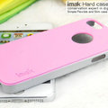 IMAK Matte double Color Cover Hard Case for iPhone 7 Plus - Pink (High transparent screen protector)