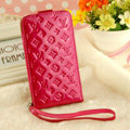 LV LOUIS VUITTON leather Cases Luxury Holster Covers Skin for iPhone 7 Plus - Rose