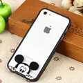 TPU Cover Disney Mickey Mouse Head Silicone Case Skin for iPhone 7 Plus 5.5 - Black
