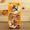 3D Squirrel Cover Disney DIY Silicone Cases Skin for iPhone 7S - Brown