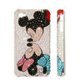 Bling Swarovski crystal cases Mickey Mouse diamond covers for iPhone 7S - White
