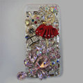 Bling Swarovski crystal cases Red Ballet girl diamond cover for iPhone 7S - Pink