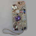 Bling Swarovski crystal cases Swan diamond cover for iPhone 7S - Purple