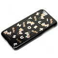 Brand Mickey Mouse Covers Plastic Back Cases Cartoon Cute for iPhone 7S - Black