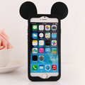 Cartoon Mickey Bumper Frame Cover Disney Silicone Cases Shell for iPhone 7S - Black