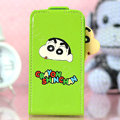 Crayon Shin-chan Flip leather Case Holster Cover Skin for iPhone 7S - Green