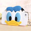 Cute Cover Cartoon Donald Duck Silicone Cases Chain for iPhone 7S - Blue