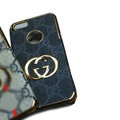 GUCCI Luxury leather Cases Hard Back Covers Skin for iPhone 7S - Grey