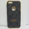 GUCCI leather Cases Luxury Hard Back Covers Skin for iPhone 7S - Black