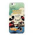 Genuine Cartoon Mickey & Minnie Mouse Covers Plastic Back Cases Matte for iPhone 7S - Mint