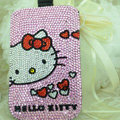 Luxury Bling Holster Covers Hello kitty diamond Crystal Cases for iPhone 7S - Pink EB007