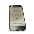Luxury Plated metal Hard Back Cases LAMBORGHINI Covers for iPhone 7S - Grey