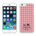 Plastic Coach Covers Hard Back Cases Protective Shell Skin for iPhone 7S Red - White