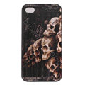 Skull Hard Back Cases Covers Skin for iPhone 7S - Black EB003