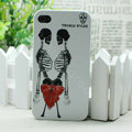 Skull Hard Back Cases Matte Covers Skin for iPhone 7S - White