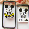 TPU Cover Disney Mickey Mouse Silicone Case Banana for iPhone 7S - Transparent