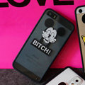 TPU Cover Disney Mickey Mouse Silicone Case Bitch for iPhone 7S - Transparent