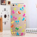TPU Cover Disney Mickey Mouse Silicone Case Cartoon for iPhone 7S - Transparent