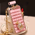 Unique Swarovski Bling Rhinestone Case Perfume Bottle Cover for iPhone 7S - Pink