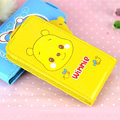 Winnie the Pooh Flip leather Case Holster Cover Skin for iPhone 7S - Yellow