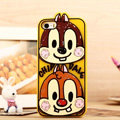 Cartoon Chip Dale Cover Disney Graffiti Silicone Cases Skin for iPhone 8 - Yellow