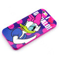 Cartoon Cover Disney Donald Duck Silicone Cases Skin for iPhone 8 - Rose