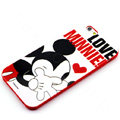 Cartoon Cover Disney Mickey Mouse Silicone Cases Skin for iPhone 8 - Red