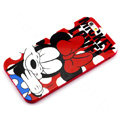Cartoon Cover Disney Minnie Mouse Silicone Cases Skin for iPhone 8 - Red