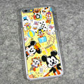 Cartoon Mickey Mouse Covers Hard Back Cases Disney Printing Shell for iPhone 8 - Yellow