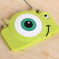Cute Cover Cartoon Mike Wazowski Silicone Cases Chain for iPhone 8 - Green