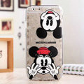 Cute Cover Disney Mickey Mouse Silicone Case Minnie for iPhone 8 - Transparent