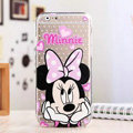 Cute Cover Disney Minnie Mouse Silicone Case Cartoon for iPhone 8 - Transparent