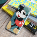 Cute Mickey Mouse Covers Plastic Matte Back Cases Cartoon Painting for iPhone 8 - Blue