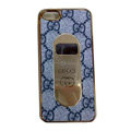 GUCCI Luxury leather Cases Hard Back Covers for iPhone 8 - Grey