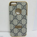 GUCCI leather Cases Luxury Hard Back Covers Skin for iPhone 8 - Grey