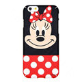 Genuine Cute Minnie Mouse Covers Plastic Back Cases Cartoon Matte PC for iPhone 8 - Red