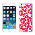 Heart Coach Covers Hard Back Cases Protective Shell Skin for iPhone 8 Red - White