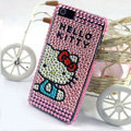 Hello kitty diamond Crystal Cases Bling Hard Covers for iPhone 8 - Pink