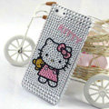 Hello kitty diamond Crystal Cases Bling Hard Covers for iPhone 8 - White