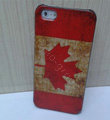 Retro Canada flag Hard Back Cases Covers Skin for iPhone 8