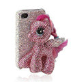 Swarovski Bling crystal Cases Pony Horse Luxury diamond covers for iPhone 8 - Pink